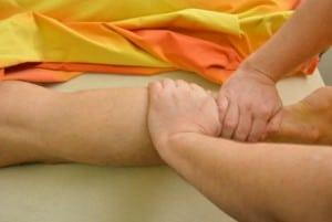 Massage van benen en voeten