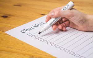 Checklist intake massage