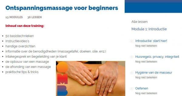 Online massagecursus