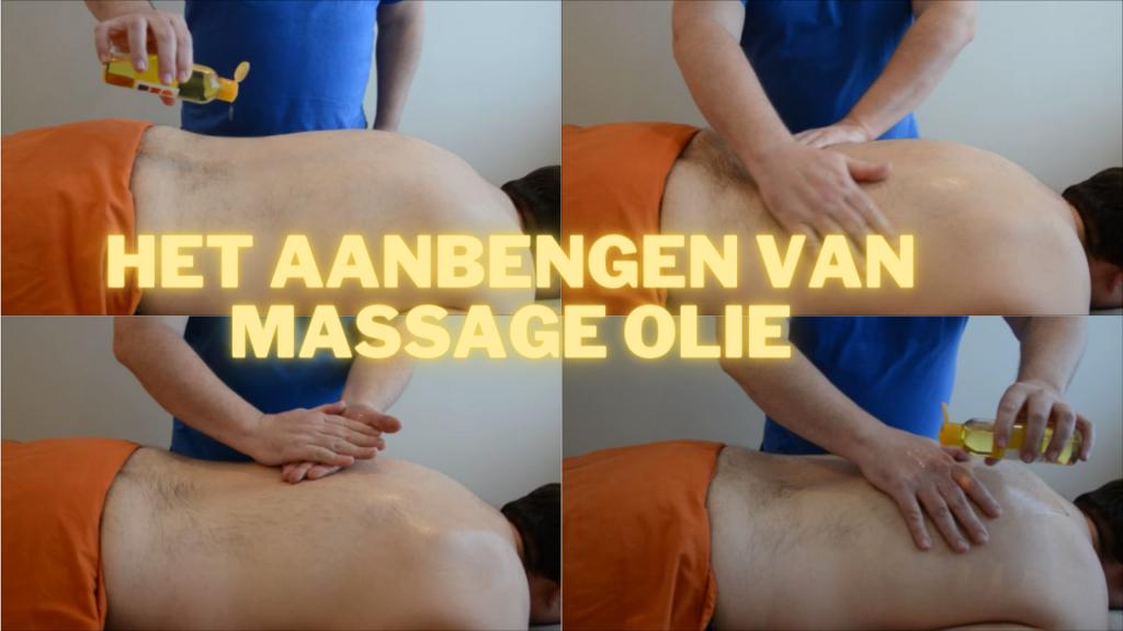 Massage olie aanbrengen